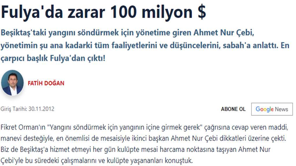 Ahmet Nur Çebi - Fulya Davası